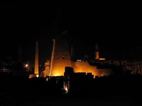 The obelisk at Luxor Temple, Egypt.