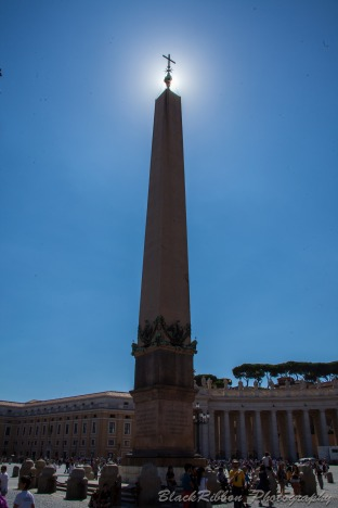 The obelisk in St. Peter's Square was moved from Egypt in AD37. It was moved to its current location by pope Sixtus V in 1586.