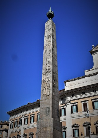 Moved from Heliopolis, this obelisk stands on Piazza Montecitorio.