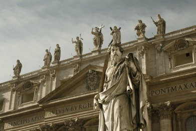 Statues at St. Peter's Basilica.